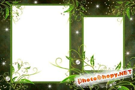 Рамка для фотошоп – Дремучий лес