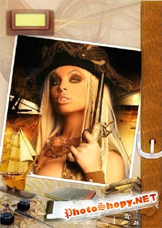 Фоторамка - Девушка пират