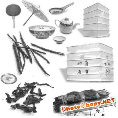 Кисти для фотошопа - Посуда из Азии