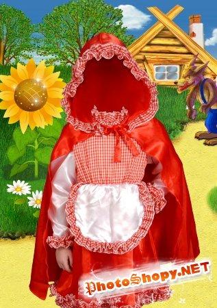 Шаблон для фотошоп – Красная шапочка