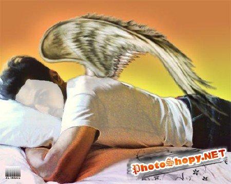 Шаблон для фотошоп - Ангел!