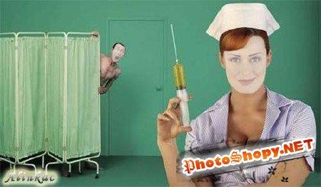 Шаблон для фотошоп - Прививка!