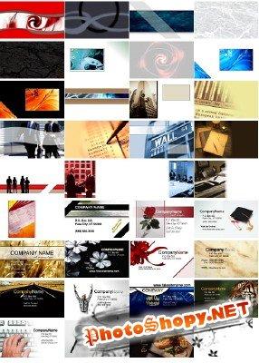 Шаблоны бизнесс карточек в PSD