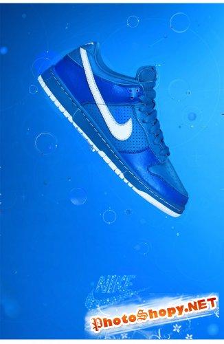 Геометрические фигуры и дизайн Nike