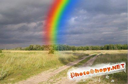Добавление реалистичной радуги
