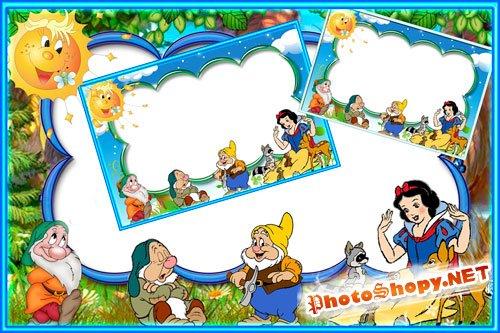 Детская рамка для Photoshop - Белоснежка