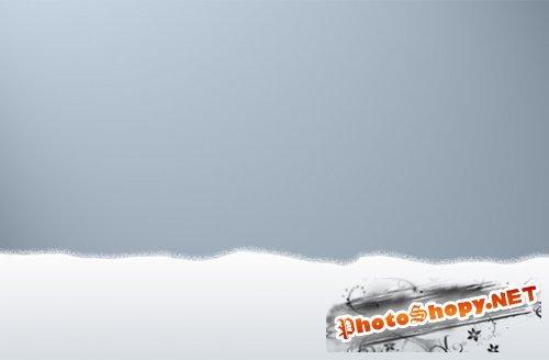 Наложение снега на буквы