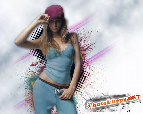 Cтильный плакат в Photoshop CS5
