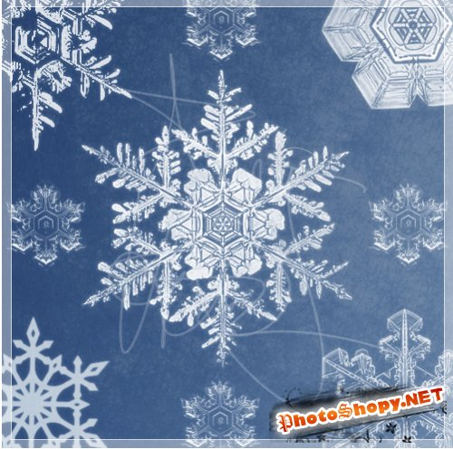 ����� ��� �������� - Snowflakes Brush Pack