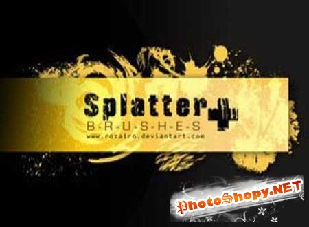 Кисти для PhotoShop (Splatter Plus By Rozairo)