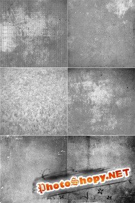 Серые гранжевые текстуры