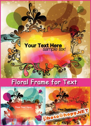 Floral Frame for Text - Stock Vectors