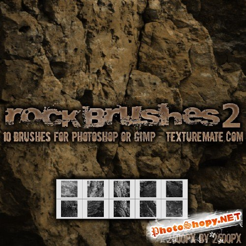Rock Brushes Pack for Photoshop 2