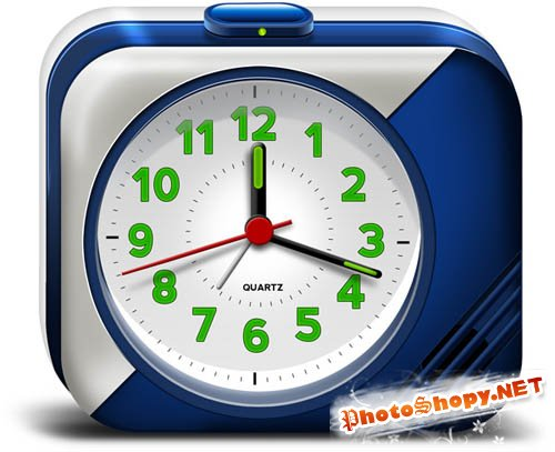 Download Electronic Alarm Clock PSD