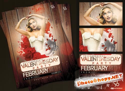 PSD Source - Valentines Day Flyer