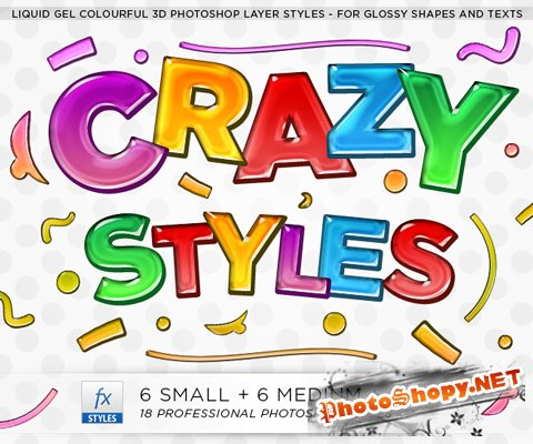 Free Photoshop Layer Styles – Colorful Liquid Gel Styles