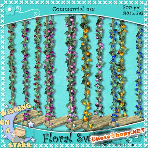 Scrap-kit - Floral swings