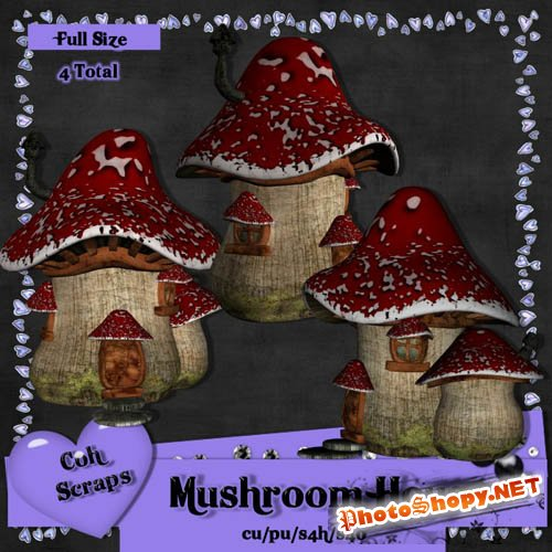 Scrap-kit - Mushroom House