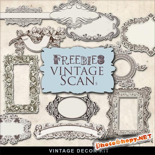 Scrap-kit - Vintage Decor Kit