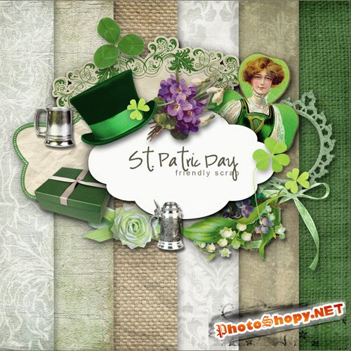 Scrap-set - St. Patric Day