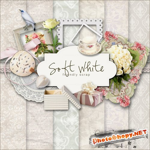 Scrap-set - Soft White