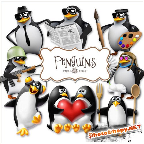 Scrap-kit - Penguins