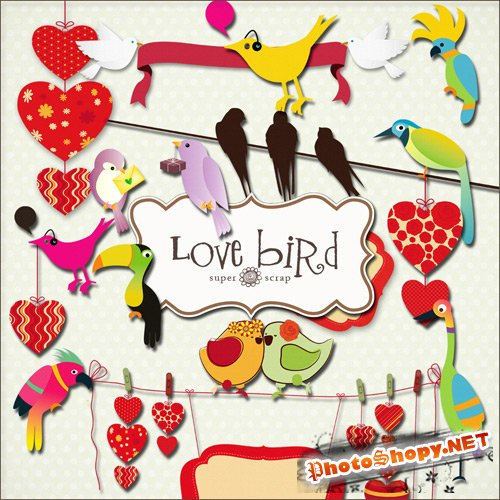 Scrap-kit - Love Bird