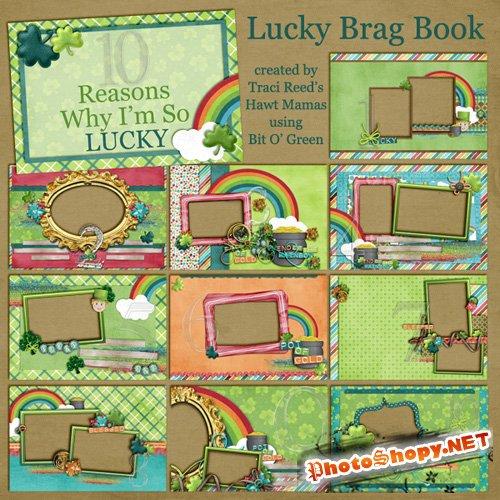 Scrap-pages - Lucky Brag Book 2011