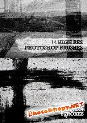 Кисти для Фотошоп - Гранжевые линии