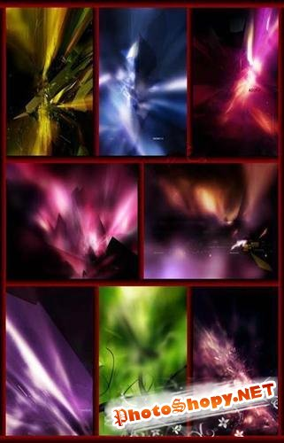 Glow crystals backgrounds