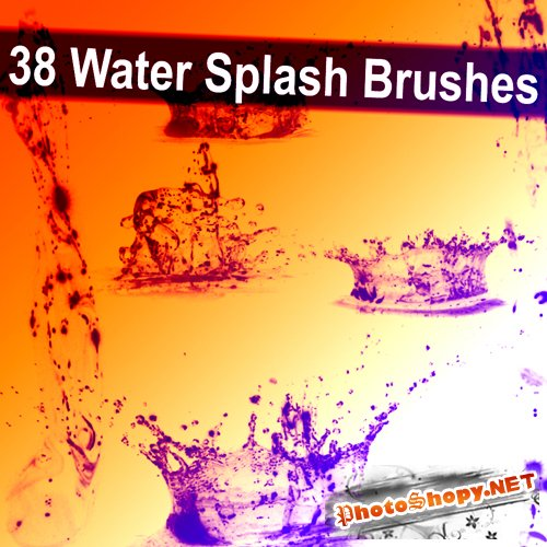 38 Water Splash Brushes