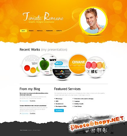 Timati Romano Free Website Template