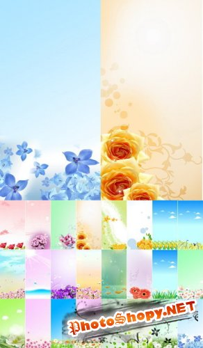 30 Floral Banners ( PSD )