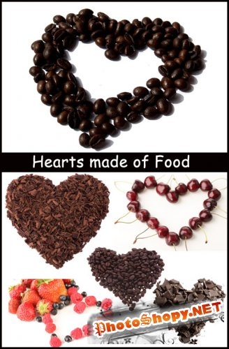 Hearts made of Food - Stock Photos