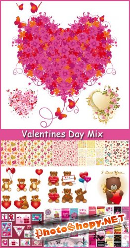 Valentines Day Mix - Stock  Vector