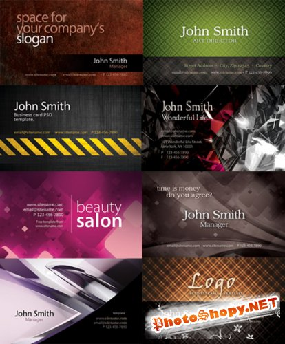 Business Cards in PSD