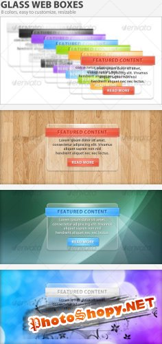 glass web boxes [GraphicRiver]