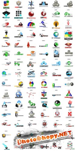 Icon Shock Logo Collection PSD