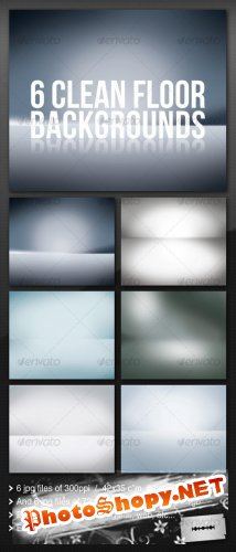 GraphicRiver 6 Clean Floor Reflect Backgrounds