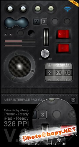 Tablet/Phone User Interface Professional Set V.3 - GraphicRiver