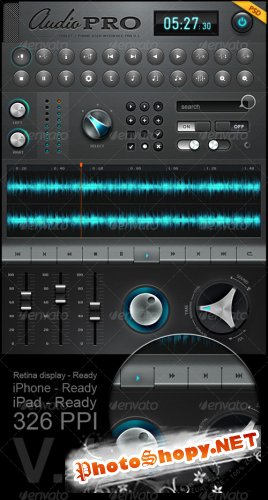 Tablet/Phone User Interface Professional Set V. 4 - GraphicRiver