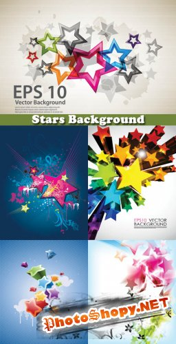 Stars Background - Stock Vectors