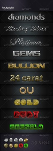 Luxury Layer Styles - GraphicRiver