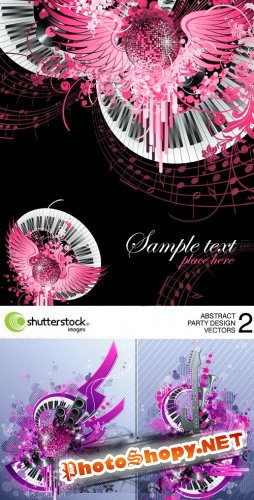 Shutterstock - Abstract Party Design Vectors - 2, 4xEPS