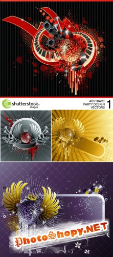 Shutterstock - Abstract Party Design Vectors - 1, 4xEPS