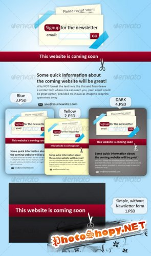 GraphicRiver Website coming soon place holder