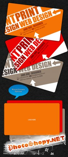 Edgy-Colorful Business Card - GraphicRiver