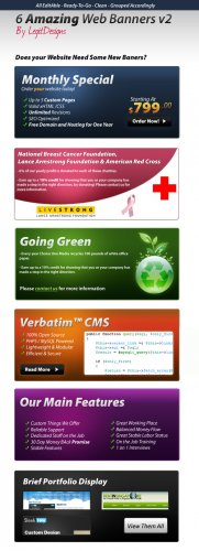 6 Amazing Web Banners v2 - GraphicRiver