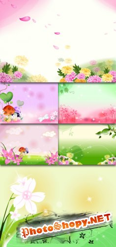 PSD Template - Fairytale Photoshop Backgrounds