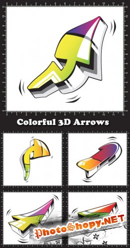 Colorful 3D Arrows - Stock Vectors